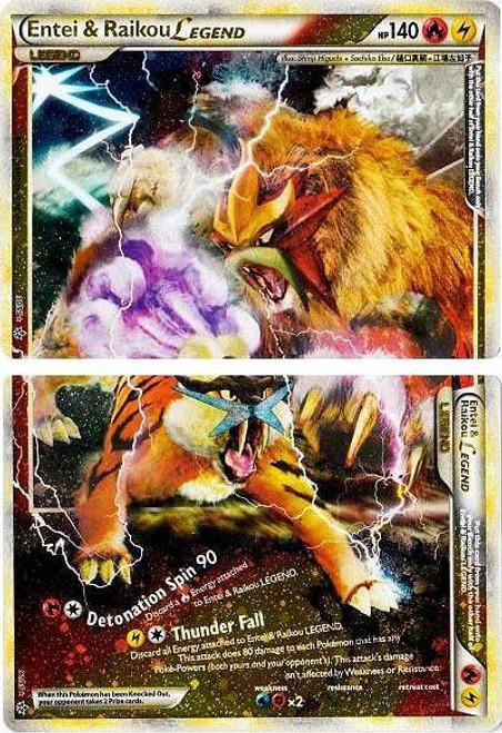 Pokemon HeartGold & Soulsilver Unleashed Ultra Rare Entei & Raikou LEGEND #90 & 91