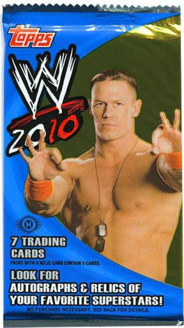 WWE Wrestling Topps 2010 WWE Trading Card Pack