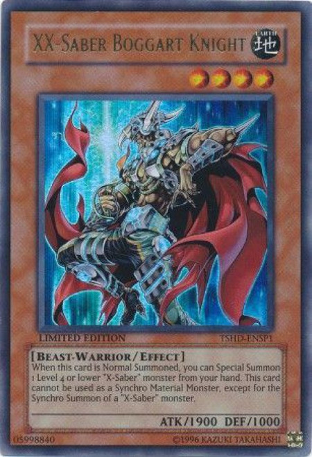 YuGiOh YuGiOh 5D's The Shining Darkness Ultra Rare XX-Saber Boggart Knight TSHD-ENSP1