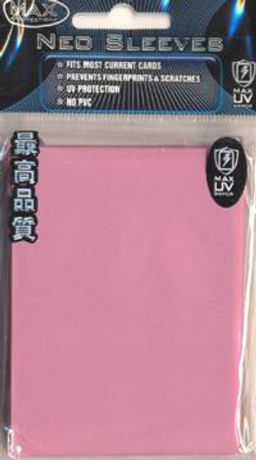 Card Supplies Neo Sleeves Flat Pink Small Card Sleeves [50 Count]