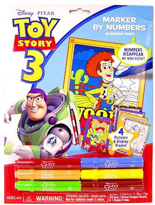 Toy Story 3 Marker By Numbers Activity Set [Board Pack]