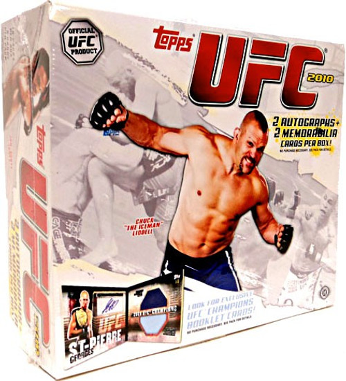 UFC Topps 2010 Trading Card HOBBY Box [16 Packs, 2 Autographs & 2 Memorabilia Cards!]