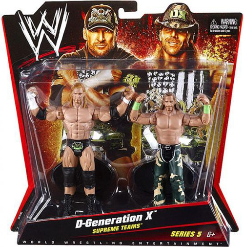 WWE Wrestling Battle Pack Series 5 D-Generation X [DX] Triple H & Shawn Michaels Action Figure 2-Pack