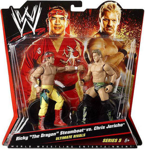 """WWE Wrestling Battle Pack Series 5 Ricky """"The Dragon"""" Steamboat vs. Chris Jericho Action Figure 2-Pack"""