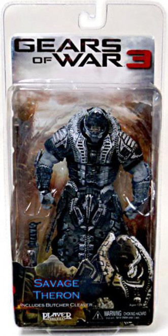 NECA Gears of War 3 Series 3 Savage Theron Action Figure [All Black Faceplate]