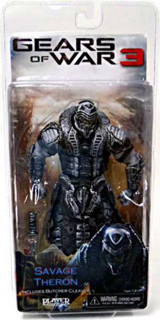 NECA Gears of War 3 Series 3 Savage Theron Action Figure [Black & Silver Faceplate]