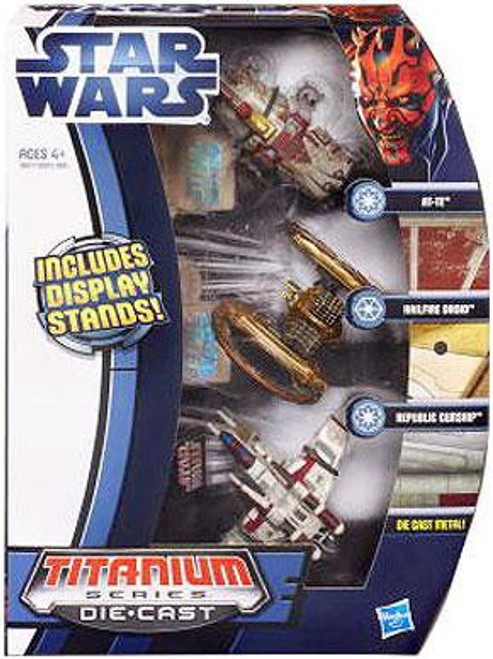 Star Wars Attack of the Clones Titanium Series 2012 Episode II Exclusive Diecast Vehicle Set