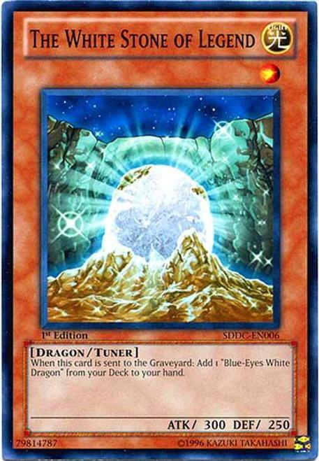 YuGiOh YuGiOh 5D's Structure Deck: Dragons Collide Common The White Stone of Legend SDDC-EN006
