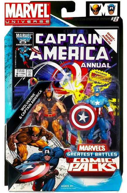 Marvel Universe Wolverine & Captain America Action Figure 2-Pack