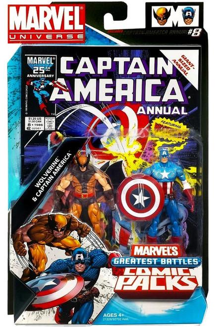 Marvel Universe Wolverine & Captain America Action Figure 2-Pack