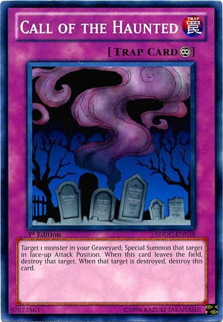 YuGiOh YuGiOh 5D's Structure Deck: Dragons Collide Common Call of the Haunted SDDC-EN038
