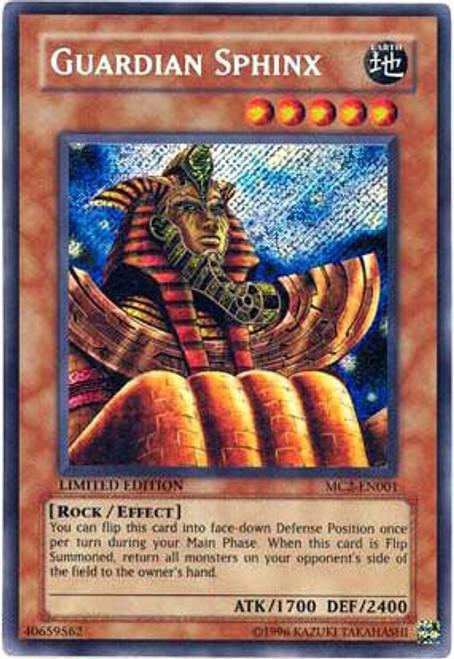 YuGiOh Master Collection 2 Secret Rare Guardian Sphinx MC2-EN001