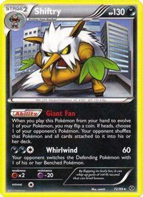 Pokemon Black & White Next Destinies Rare Shiftry #72