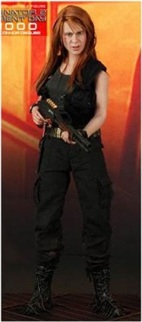 Terminator 2 Judgment Day T-1000 as Sarah Connor Collectible Figure