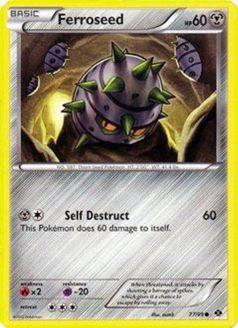 Pokemon Black & White Next Destinies Common Ferroseed #77