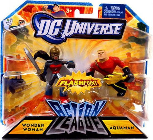 DC Universe Flashpoint Action League Wonder Woman & Aquaman 3-Inch Mini Figures