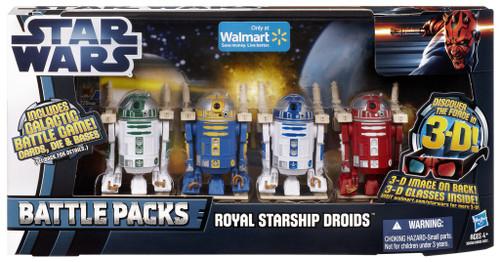 Star Wars Phantom Menace 2012 Battle Pack Royal Starship Droids Exclusive Action Figure 3-Pack [R2-R9, R2-N3, R2-B1 & R2-D2]