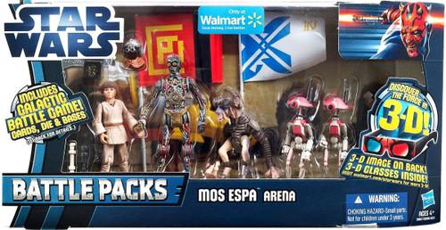Star Wars Phantom Menace 2012 Battle Pack Mos Espa Arena Exclusive Action Figure 4-Pack [C-3PO, Anakin Skywalker, Sebulba & Pit Droid]