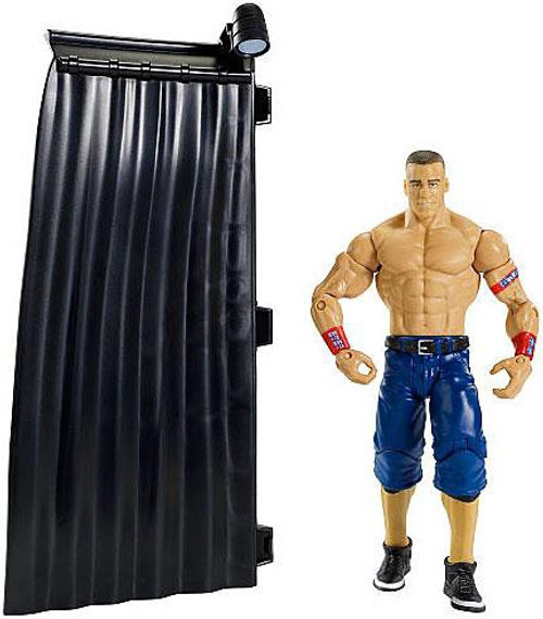 WWE Wrestling PPV Headquarters John Cena Exclusive Action Figure [Build a WWE Interview Set]