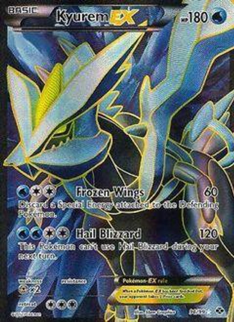 Pokemon Black & White Next Destinies Ultra Rare Full Art Kyurem EX #96
