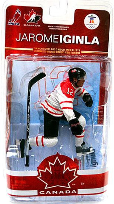 McFarlane Toys NHL Calgary Flames Sports Picks Team Canada Series 2 Jarome Iginla Action Figure [White Jersey]