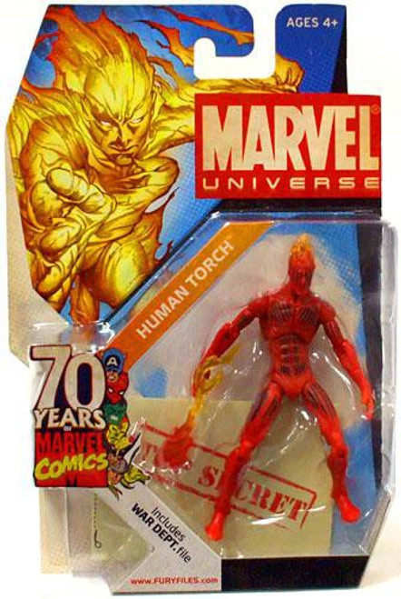 Marvel Universe 70 Years of Marvel Comics Human Torch Exclusive Action Figure SD3