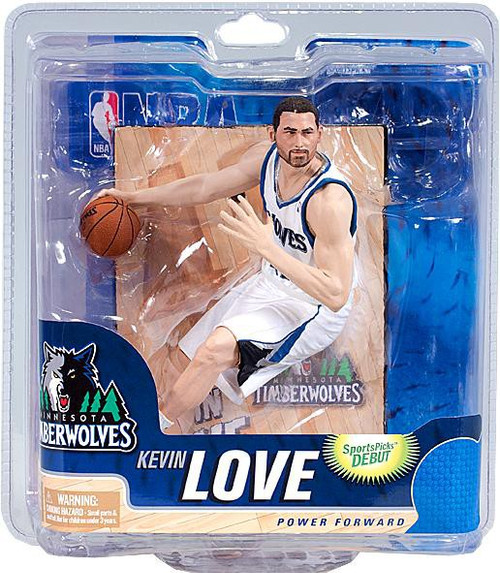 McFarlane Toys NBA Minnesota Timberwolves Sports Picks Series 21 Kevin Love Action Figure [White Jersey]