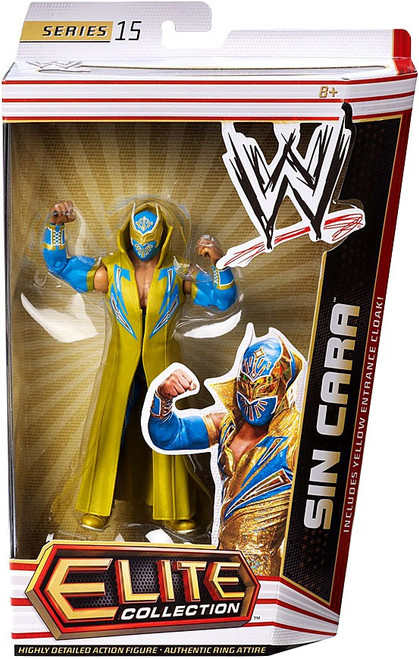 WWE Wrestling Elite Collection Series 15 Sin Cara Action Figure [Yellow Entrance Cloak]