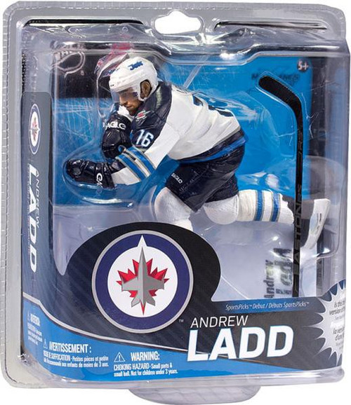 McFarlane Toys NHL Winnipeg Jets Sports Picks Series 31 Andrew Ladd Action Figure [White Jersey]