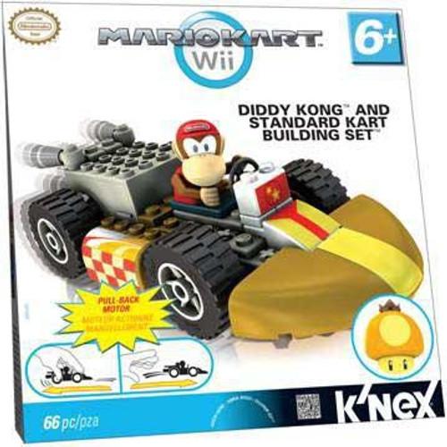 K'NEX Super Mario Mario Kart Wii Diddy Kong & Standard Kart Set #38046