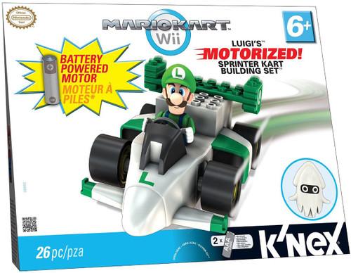 K'NEX Super Mario Mario Kart Wii Luigi's Sprinter Kart Set #38063 [Motorized]