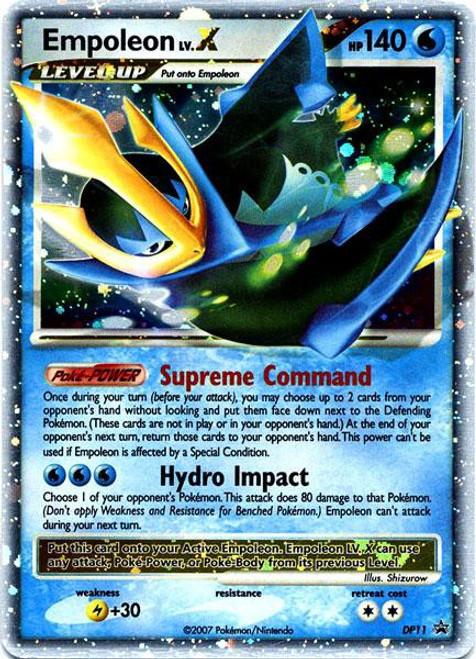 Pokemon Diamond & Pearl Promo Ultra Rare Empoleon LV.X DP11