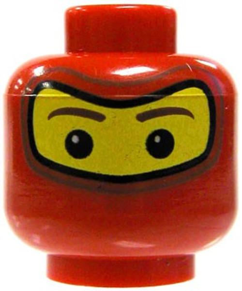 Red Ninja Covering Minifigure Head [Yellow Loose]