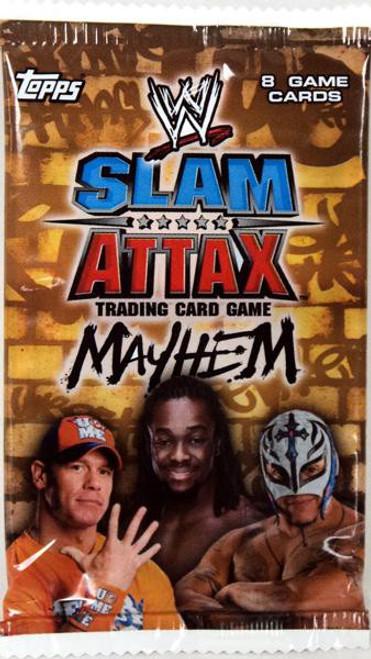 WWE Wrestling Topps Slam Attax Mayhem Series 2 Booster Pack