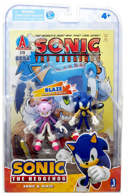 Sonic The Hedgehog Comic Series Sonic & Blaze Action Figure 2-Pack