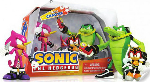 Sonic The Hedgehog Team Chaotix Action Figure 3-Pack [Charmy Bee, Espio & Vector]