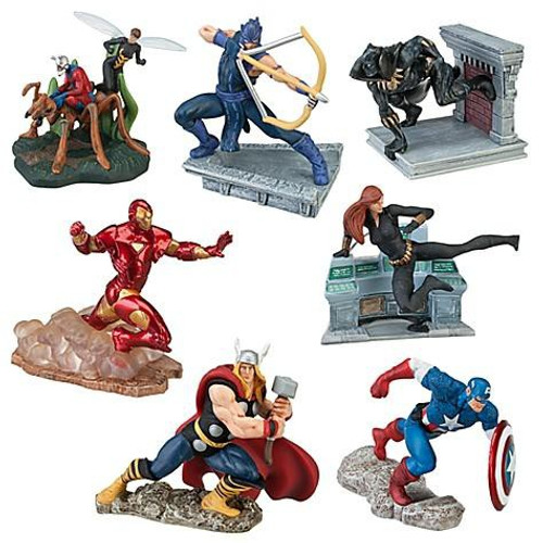 Disney Marvel Avengers Exclusive 7-Piece PVC Figure Set
