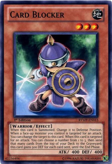 YuGiOh GX Trading Card Game Ra Yellow Mega Pack Common Card Blocker RYMP-EN015