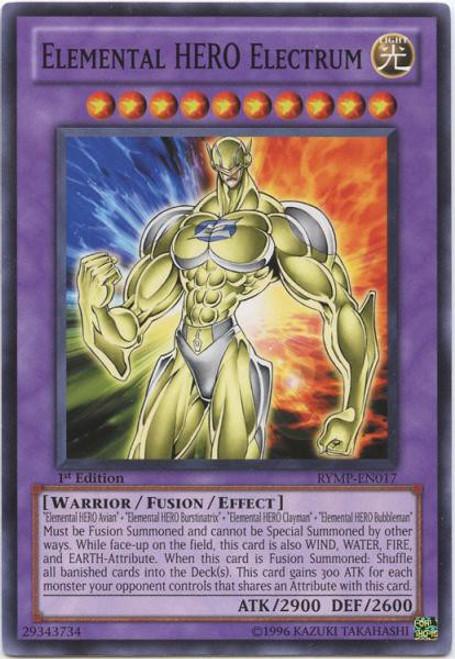 YuGiOh GX Trading Card Game Ra Yellow Mega Pack Common Elemental HERO Electrum RYMP-EN017