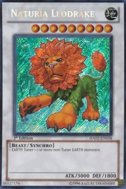 YuGiOh YuGiOh 5D's Hidden Arsenal 2 Secret Rare Naturia Leodrake HA02-EN058