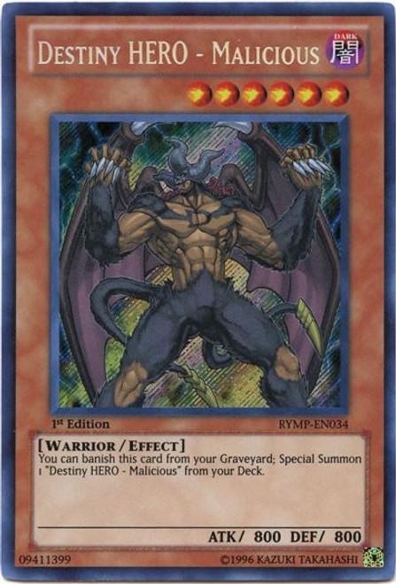 YuGiOh GX Trading Card Game Ra Yellow Mega Pack Secret Rare Destiny HERO - Malicious RYMP-EN034