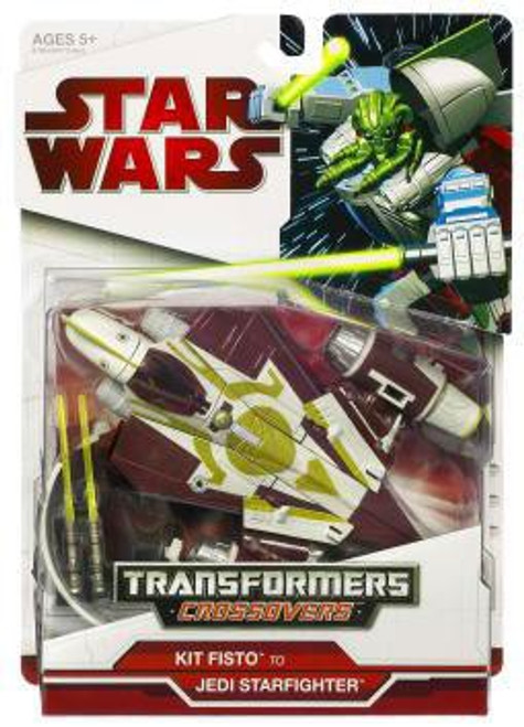 Star Wars Revenge of the Sith Transformers Crossovers 2009 Kit Fisto to Jedi Delta-7 Starfighter Action Figure