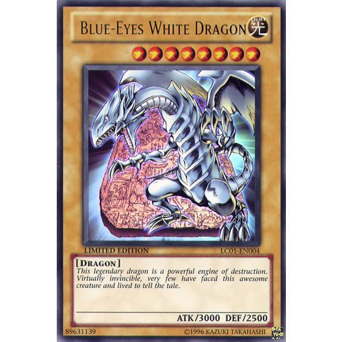 YuGiOh Legendary Collection 1 Ultra Rare Blue-Eyes White Dragon LC01-EN004