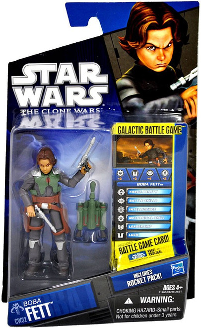 Star Wars The Clone Wars 2010 Boba Fett Action Figure CW32