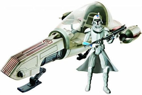 Star Wars The Clone Wars 2010 Freeco Speeder with Clone Trooper Action Figure & Vehicle