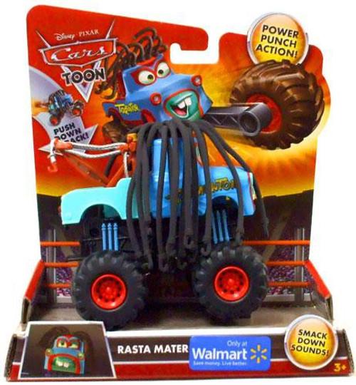 Disney / Pixar Cars Cars Toon Monster Trucks Rasta Mater Exclusive Plastic Car