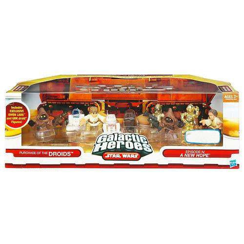 Star Wars A New Hope Galactic Heroes Cinema Scenes Purchase of the Droids Exclusive Mini Figure Set