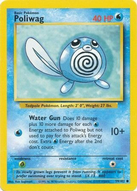 Pokemon Base Set Common Poliwag #59