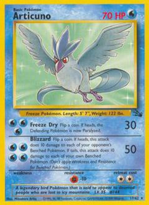 Pokemon Fossil Rare Articuno #17