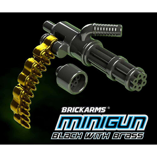 BrickArms Minigun 2.5-Inch [Black with Brass Ammo Chain]